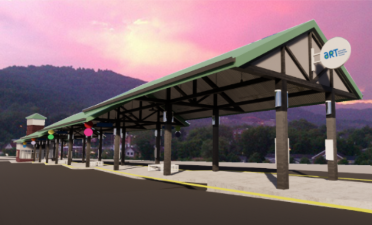 transit station rendering