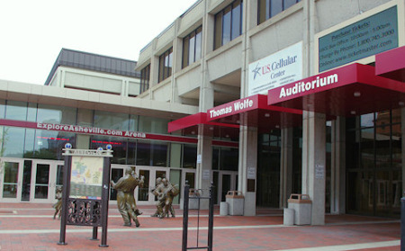 Exterior of the U.S. Cellular Center entrance
