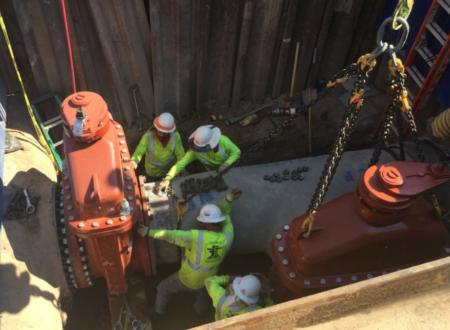 Waterline transmission installation