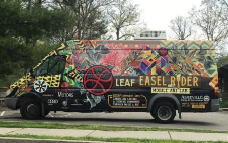 photo of mobile art van
