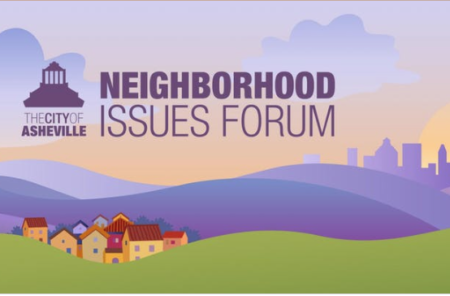 Neighborhood issues forum illustration