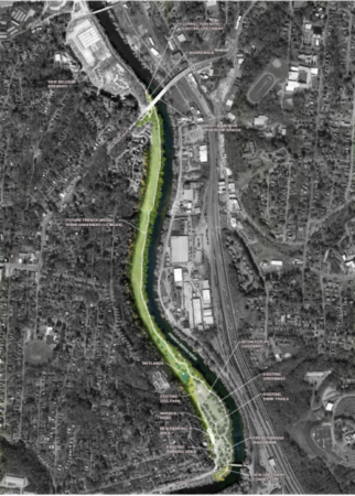 french broad river greenway map