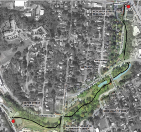 town branch greenway map